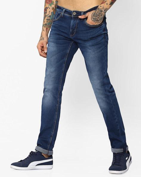 Lightly Washed Skinny Jeans By Killer ( Blue )