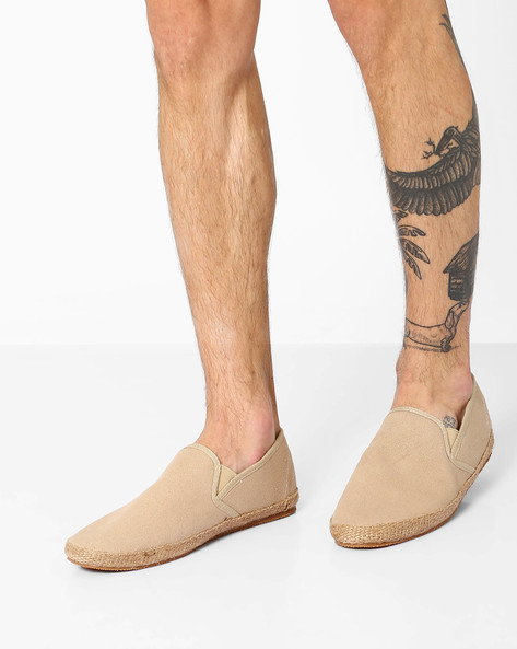 Canvas Slip-On Shoes By Carlton London ( Beige )