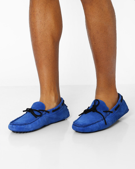 Genuine Leather Casual Shoes By AJIO ( Blue )
