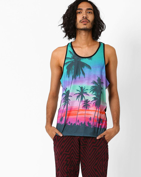 Sublimation Print Fashion Vest By Garcon ( Green )