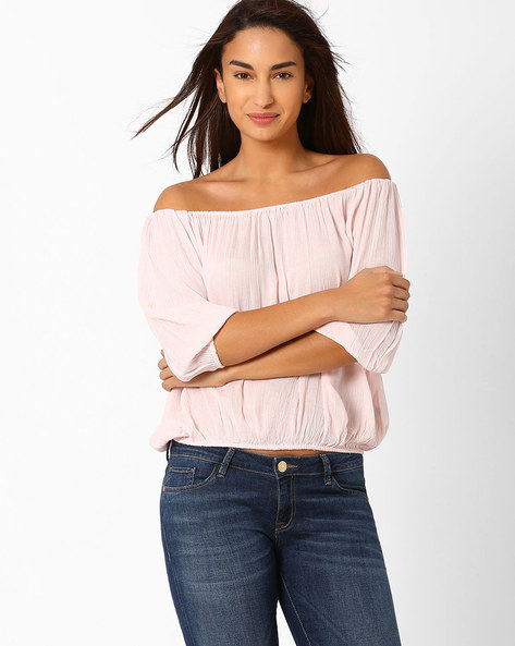 Off-Shoulder Top By Oxolloxo ( Pink )