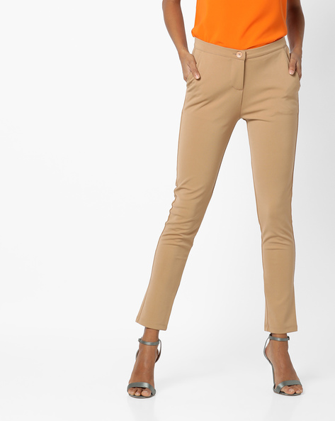 Ankle-Length Slim Pants By UNITED COLORS OF BENETTON ( Beige )