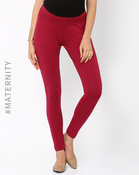 Underbelly Leggings By AJIO ( Maroon )