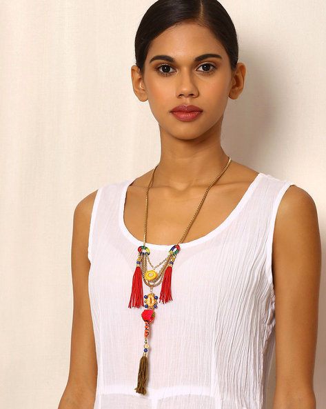 Lariat Style Necklace By Indie Picks ( Multi )