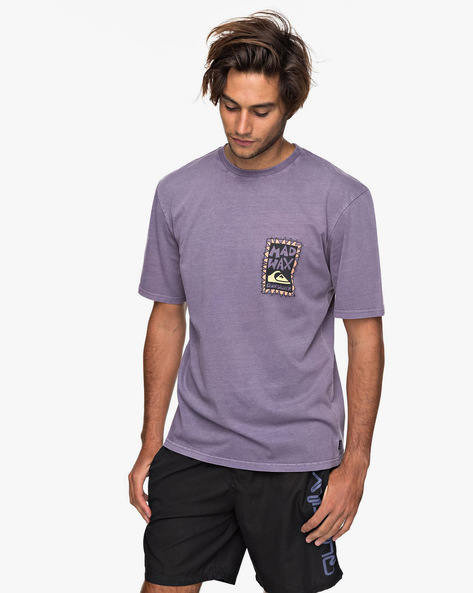 Printed Crew-Neck Longline T-shirt By QUIKSILVER ( Pnm0 ) - 410081169008