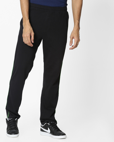 Mid-Rise Trackpants With Contrast Piping By HANES ( Black )