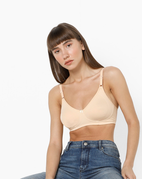 Seamless Bra With Adjustable Straps By HANES ( Skin )