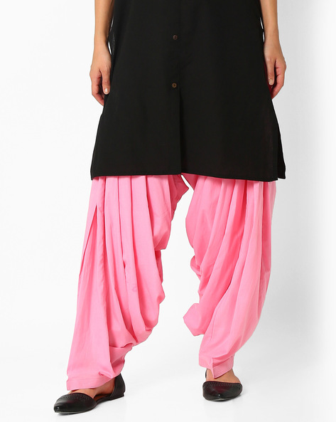 Cotton Patiala Pants By Stylenmart ( Lightpink )