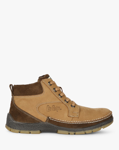 High-Top Shoes With Panelled Construction By Lee Cooper ( Brown )