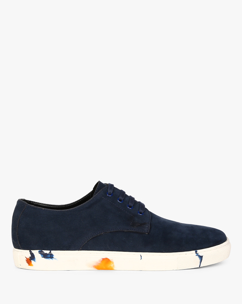 Lace-Up Sneakers With Printed Midsole By Funk ( Navy )
