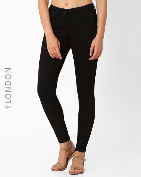 5-Pocket Skinny Fit Jeggings By Marks & Spencer ( Black )