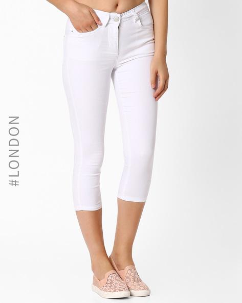 5-Pocket Skinny Fit Capris By Marks & Spencer ( White )