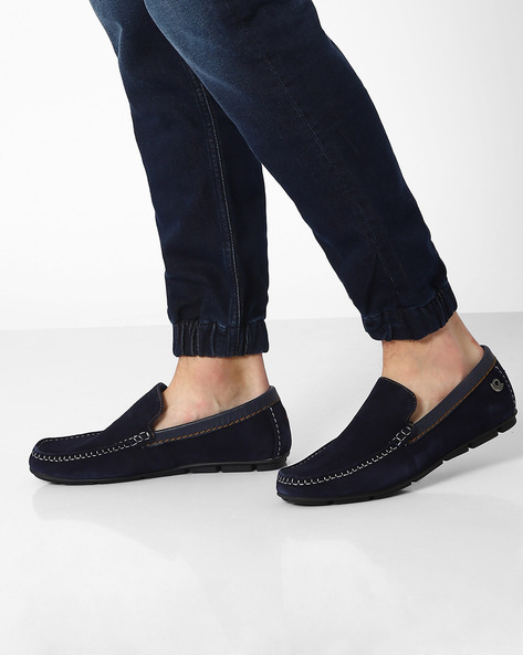 Genuine Leather Loafers By Lee Cooper ( Navy )