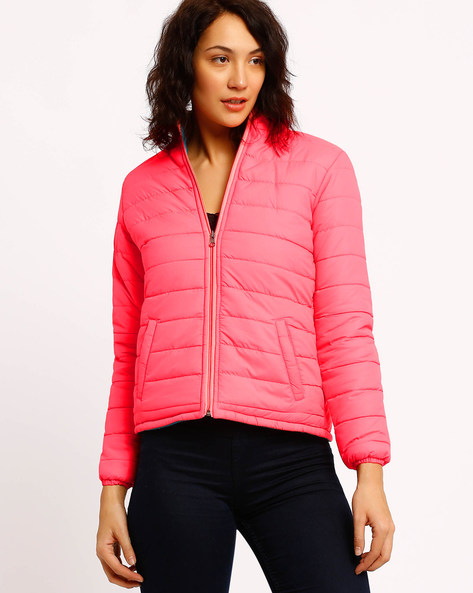 Reversible Quilted Jacket By Fort Collins ( Orange )