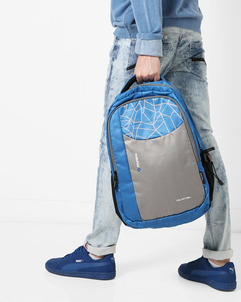 Printed Everyday Backpack With Multiple Zips By Murano ( Royalblue )