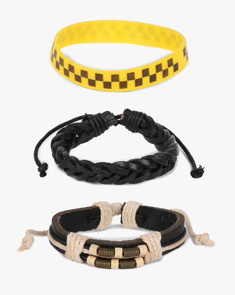 Set Of 3 Bracelets By ALPHA MAN ( Yellow )