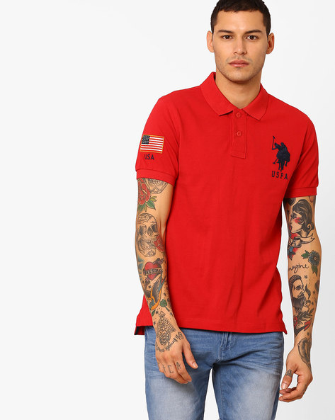 Cotton Polo T-shirt By US POLO ( Assorted )