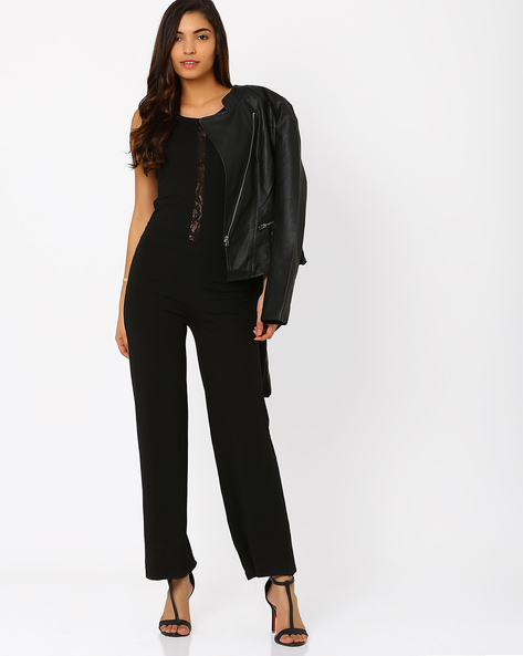 Jersey Jumpsuit By SF Jeans By Pantaloons ( Black )