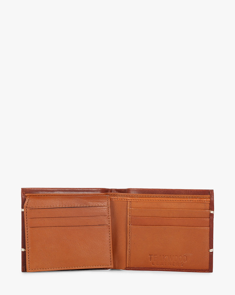 Bi-Fold Textured Wallet By TEAKWOOD LEATHERS ( Wine )