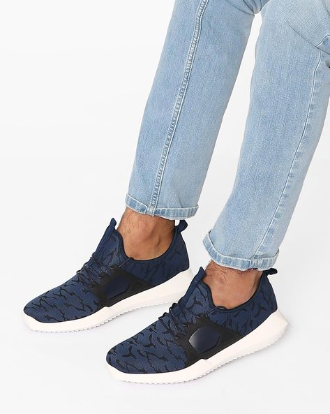 Printed Lace-Up Casual Shoes By Muddman ( Navy )