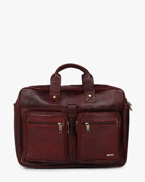 Flat 50% Off By Ajio | TEAKWOOD LEATHERS Genuine Leather Laptop Bag @ Rs.4,500