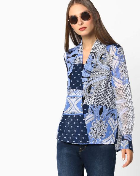 Printed Top With Overlay By Oxolloxo ( Multi )