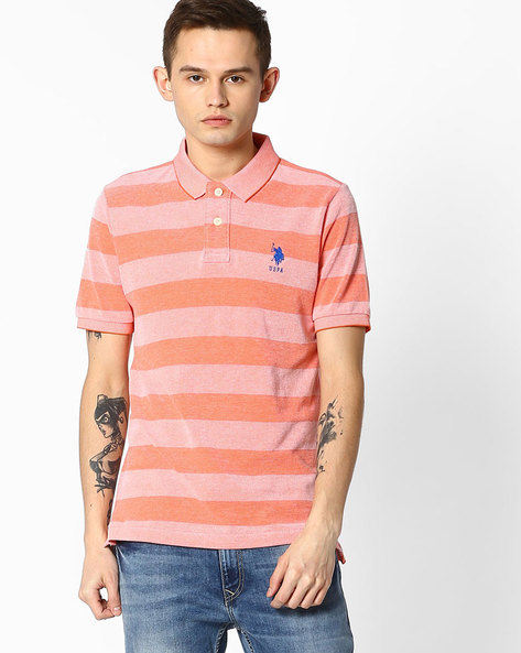 Striped Polo T-shirt By US POLO ( Assorted )
