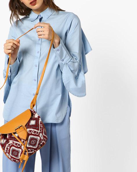 Jacquard Weave Sling Bag By Kanvas Katha ( Multi ) - 460093092001