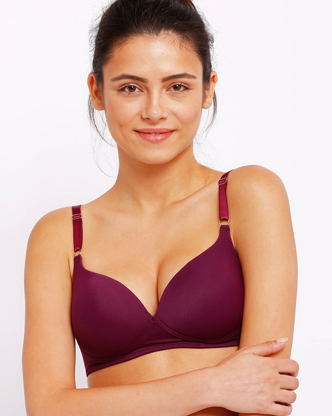 Lightly Padded Seamless T-shirt Bra By Lovable ( Purple )