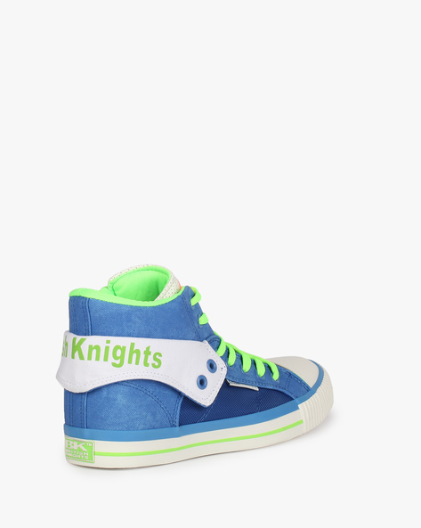 Roco Panelled Lace-Up Casual Shoes By British Knights ( Royalblue )