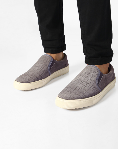 Textured Casual Shoes By Carlton London ( Grey )