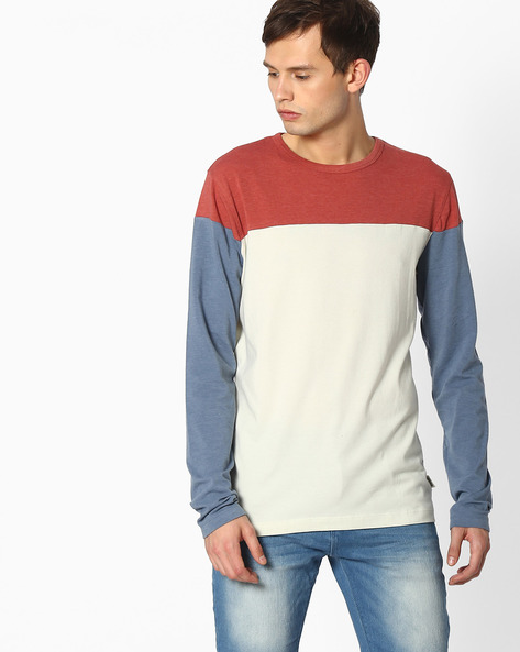 Cut & Sew Colourblock T-shirt By Blue Saint ( Multicolor )
