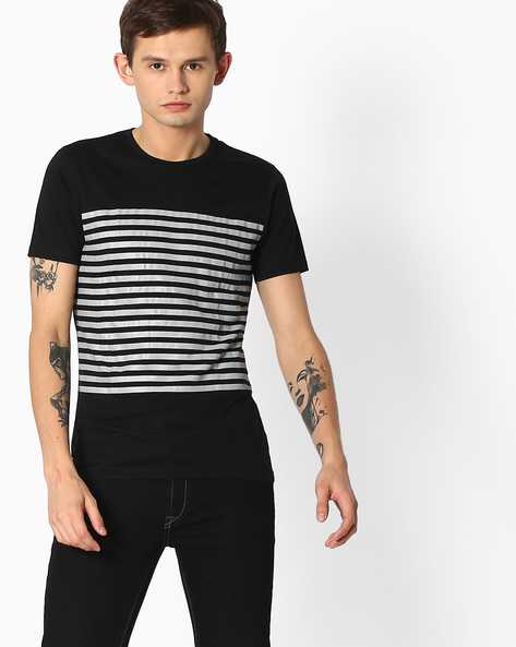 Slim Fit Crew-Neck T-shirt By The Indian Garage Co ( Black )