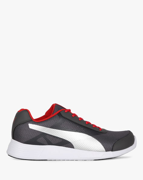 Low-Top Lace-Up Sports Shoes By Puma ( Grey )