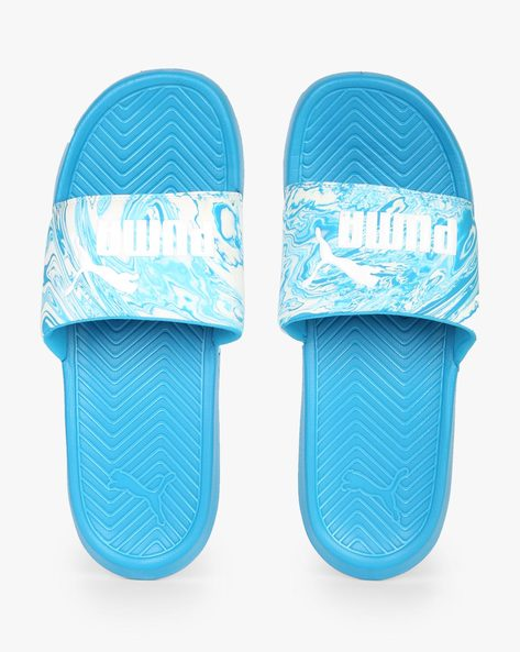 Popcat Marble Flip-Flops With Branding By Puma ( Blue )