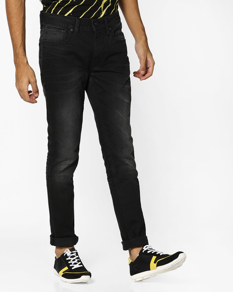 Lightly Washed Skinny Jeans By VOI JEANS ( Black ) - 460118042001