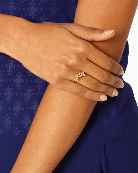 Matte Gold-Plated Ring By AJIO ( Gold )