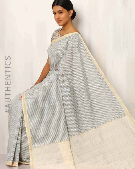 Printed Cotton Silk Saree With Ghicha Pallu By Rudrakaashe-MSU ( Multi ) - 460011249001