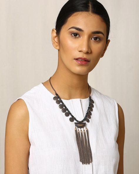Beaded Afghan Necklace By Indie Picks ( Multi )