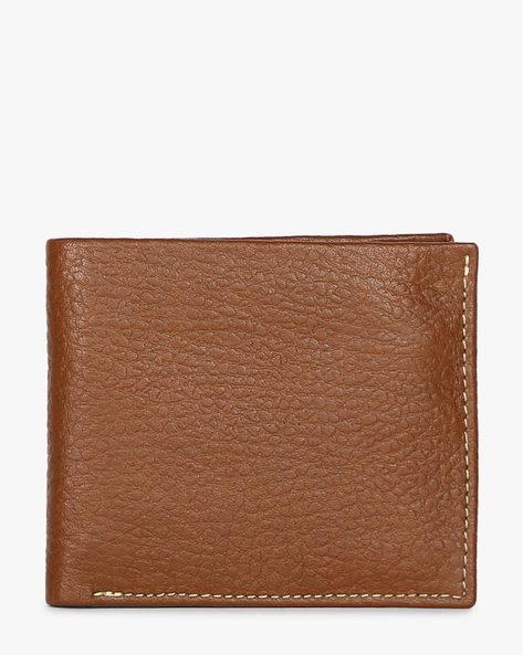 Grained Leather Bi-Fold Wallet By JUSTANNED ( Lgttan )