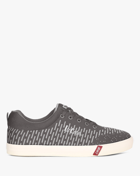 Low-Top Lace-Up Sneakers By Lee Cooper ( Darkgrey )