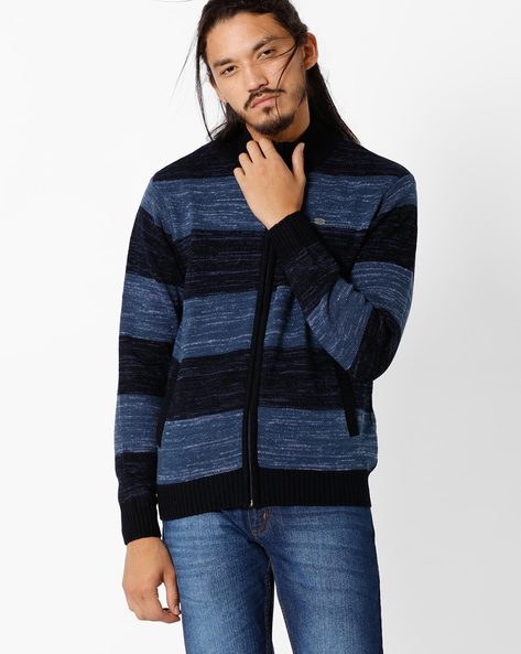 Striped Regulat Fit Sweater By NETPLAY ( Navy )