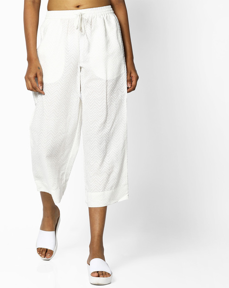 Lapet Culottes With Tie-Up By Project Eve IW Casual ( Offwhite )