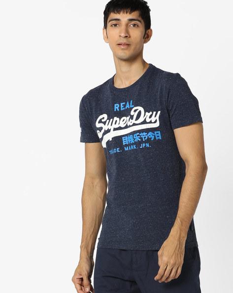 Typographic Print Crew-Neck T-shirt By SUPERDRY ( Ten )