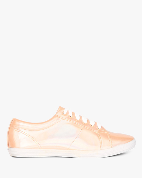 Casual Shoes With Lace-Ups By AJIO ( Pink )