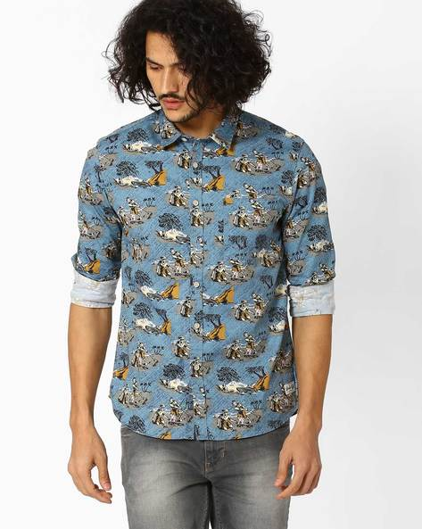 Printed Regular Fit Shirt By FLYING MACHINE ( Assorted )