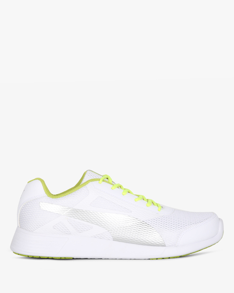 Low-Top Lace-Up Sports Shoes By Puma ( White )
