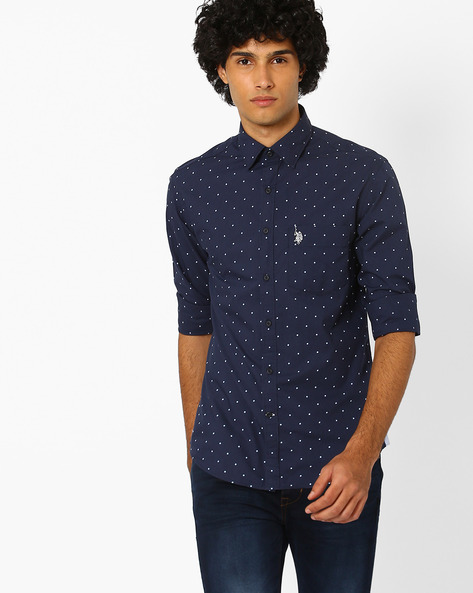 Printed Regular Fit Shirt By US POLO ( Assorted )