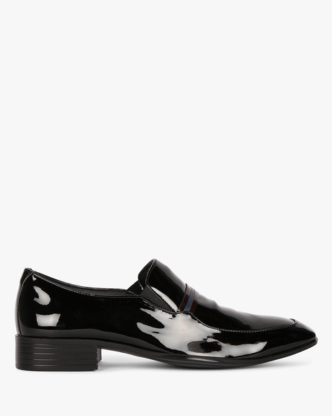 Patent Leather Slip-On Shoes By ESCARO ( Black )