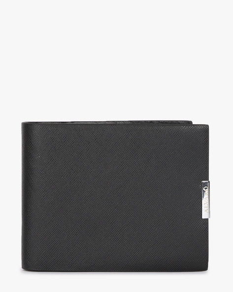 Alvaro Wallet With Metal Branding By ALVARO CASTAGNINO ( Black )